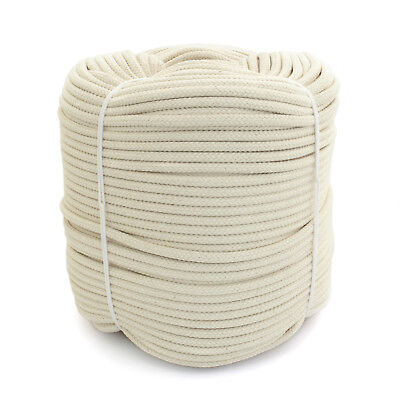 6mm COTTON ROPES natural fibre industry craft multi-use white