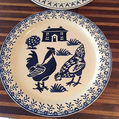 COLLECTIBLE Emma Bridgewater Blue Hen Plate #2 - 13""