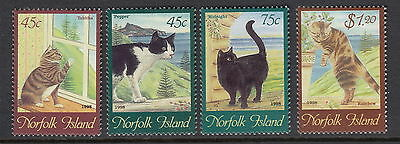 Norfolk Island 1998 Paintings of Cats