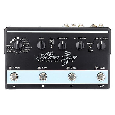 TC Electronic Alter Ego X4 Vintage Delay Looper Guitar Effects Stompbox Pedal