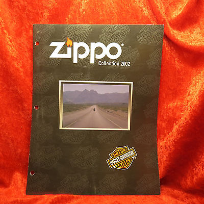 Rare Zippo 2002  Full Size Harley Lighter Collection Catalog