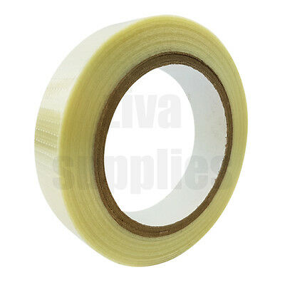 CROSSWEAVE TAPE Reinforced (25mm x 50m) for Packing Parcels Boxes Heavy Goods