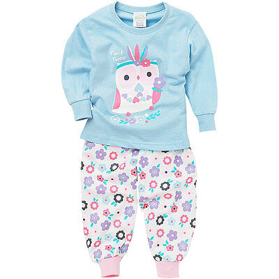 Lullaby Toddler Girls Twit Twoo Cute Owl Floral Long Sleeve Pyjamas 6-23mths