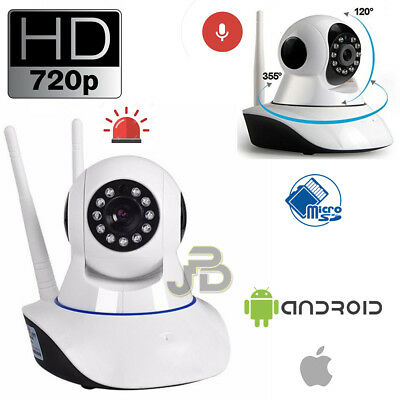 Telecamera Ip Wireless Camera Hd 720P Led Ir Motorizzata Wifi Rete Internet