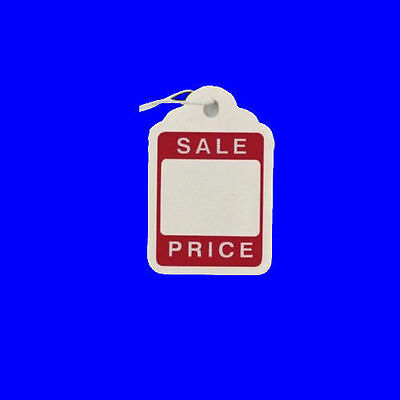 100 x 46mm x 30mm Sale Strung String Tags Swing Price Tickets Tie On Labels