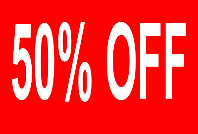 50% Off Sale Rail Double Sided Sign Card Retail Shop Display - High Quality