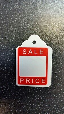 500 x 46mm x 30mm Sale UnStrung Kraft Tags Swing Price Tickets Jewellery Labels