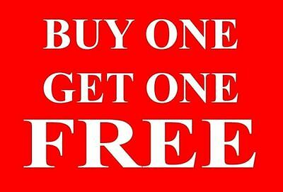 Buy One|1 Get One|1 Free Sale Sign Card Retail Shop Display - High Quality