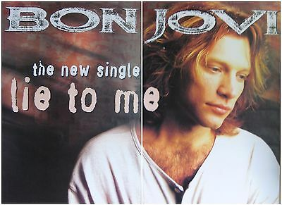 "2-PANEL 80X120"" HUGE SUBWAY POSTERS~Bon Jovi Lie To Me 1995 These Days 40x60""x2~"