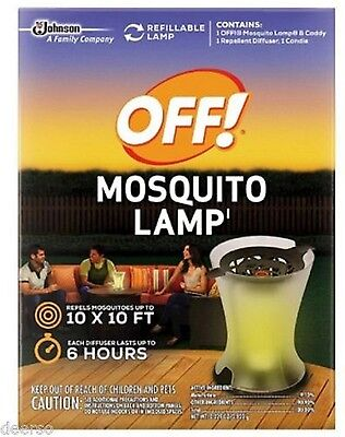 OFF! Mosquito Lamp Starter Kit Mosquito Repellent Lamp Covers 100 Sq Ft Repels