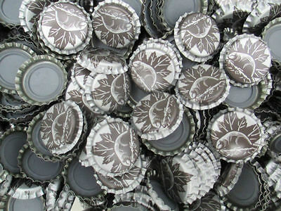 400+  Silver Beer Caps for Home Brew With Canadian Beaver on them *BRAND NEW*