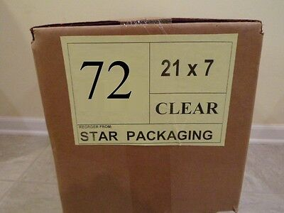 "72"" CLEAR Plastic Dry Cleaning Poly Bag Garment Bags 300 BAGS - MADE IN USA"