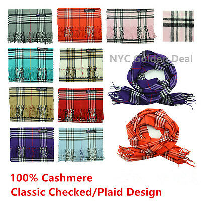 Wholesale Lot 100% CASHMERE Wool Tartan Scarf Scotland CHECKED PLAID Super Warm