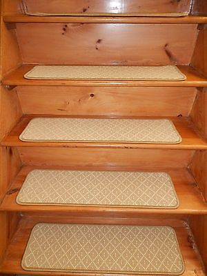 "1 3= STEP  9"" X 30""  Stair Treads Step WOVEN WOOL CARPET."