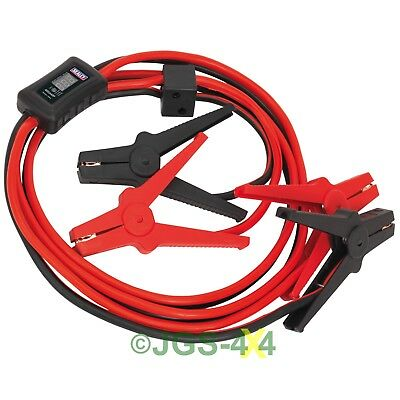 Booster Jump Start Cables 3M 400Amp Surge Protection LED Voltage Display 16mm²
