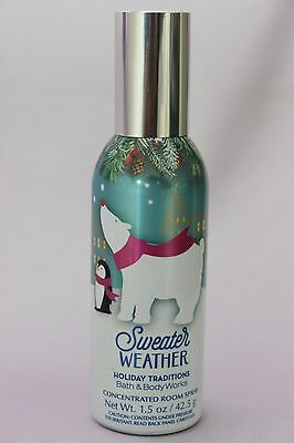 Lot 1 Bath Body Works Sweater Weather Concentrated Room Spray Air