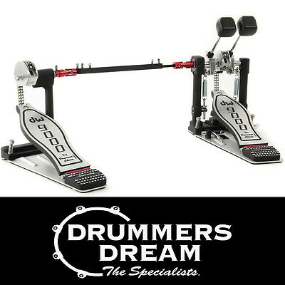 DW 9000 Series Double Bass Drum Kick Pedal + Case - DWCP9002PC RRP $1299 NEW