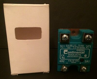 New invensys Continental SVDA-6V75 Solid State Relay 4 to 32 VDC Control