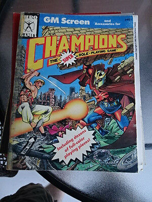 #401 Super Champions Role Playing Game Heroes RPG Campaign Book Hero Games