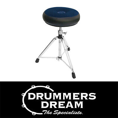 Brand New ROC-N-SOC Manual Spindle Blue Round Style Drum Throne / Stool