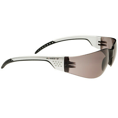 Swiss Eye Outbreak Luzzone Sport Cyclist Sunglasses Smoke Lens Silver/Grey Frame