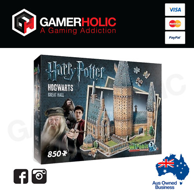 Harry Potter 3D Great Hall Jigsaw Puzzle 850 Pieces by Wrebbit Brand New