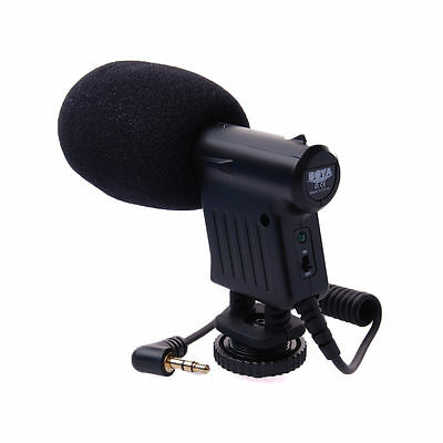 BOYA BY-VM01 3.5mm Video Condenser Microphone for Canon Camera Camcorder LF476