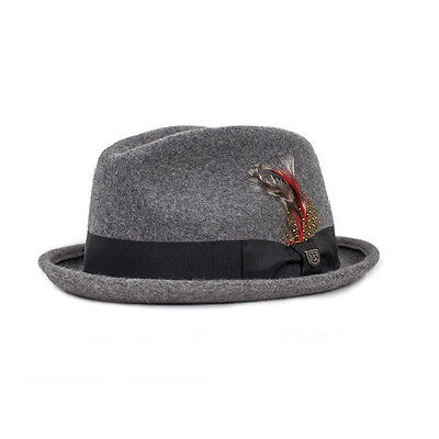 Brixton Gain Fedora Hat Heather Grey