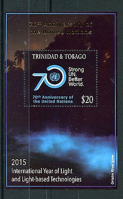 Trinidad & Tobago 2015 MNH UN United Nations 70th Anniv 1v S/S Year Light Stamps