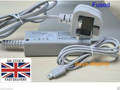 New- UK AC Power Adapter Wall Charger Compatible With Nintendo wii u Game pad
