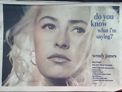 """WENDY JAMES # DO YOU KNOW WHAT I,M SAYING # ORIGINAL 1994 ADVERT # 8""""x 11"""""""