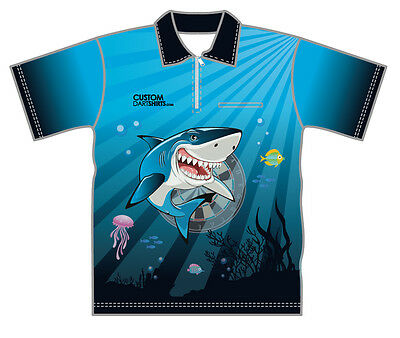 Deep Blue Shark -  Dart Shirt