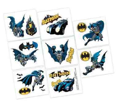 Batman DC Comics superhero Tattoos Birthday Party loot bag fillers, 1 sheet
