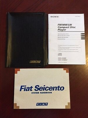 FIAT SEICENTO HANDBOOK + AUDIO GUIDE + WALLET years 1996    2000