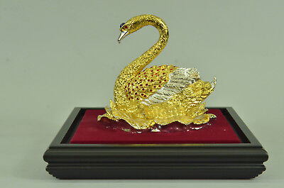 French Empire Figural Winged Swan Bronze Brass Detailed Decoration Art