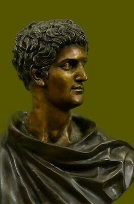 Handcrafted Massive Roman Mark Anthony Bronze Sculpture Lost Wax Statue