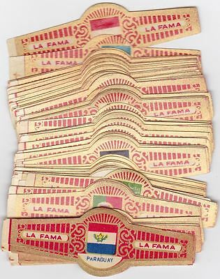 78 cigar bands La Fama A Banderas Flags iss in 1952