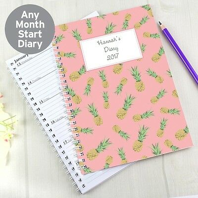 Personalised Pineapple A5 Diary Back To School Girls Mum Daughter Planner Hers