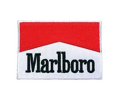 3 x 2 in Marlboro logo Patch Sew Iron On Patches #Free Shipping