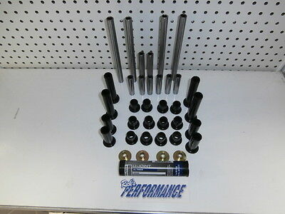 New Polaris Rzr 800 Rear Suspension Rebuild Kit Bushings Pivot Tubes Moly Grease