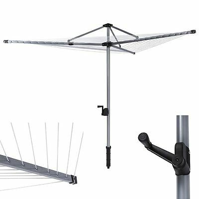 new 4 arm aluminium rotary airer dryer clothes stand free. Black Bedroom Furniture Sets. Home Design Ideas