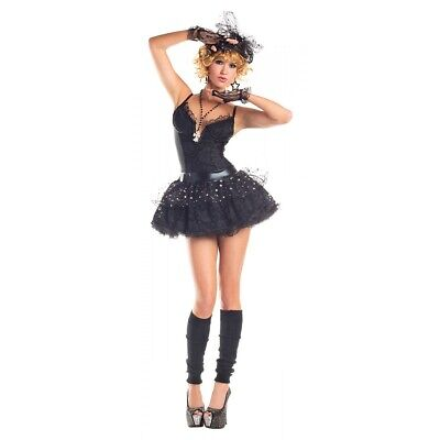 Madonna Costume Adult 80s Pop Star Material Girl Halloween Fancy Dress