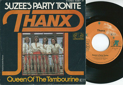 THANX - Suzee's Party Tonite / Queen Of THe Tambourine 45 RARE 70s GERMAN PS