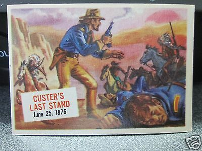 1954 Topps Scoops Trading Cards Custer's Last Stand No.45 Excellent Plus