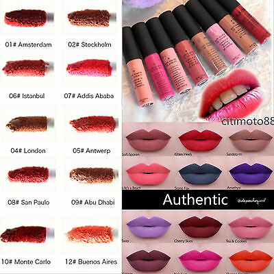 12Color New Soft Matte Lip Cream - Uk Sale-  All Shades!!  - New Authentic! !