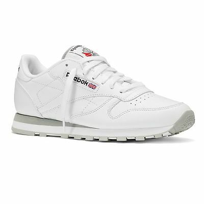 Reebok Mens Classic Leather Trainers White/grey 2214