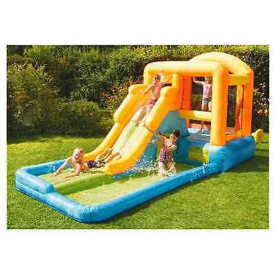 GIANT AIRFLOW BOUNCY CASTLE-WITH SLIDE & POOL and Electric Blower Pump