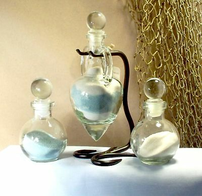 Personalized Wedding Unity Sand Ceremony Amphora Glass Tops Ball Bottles