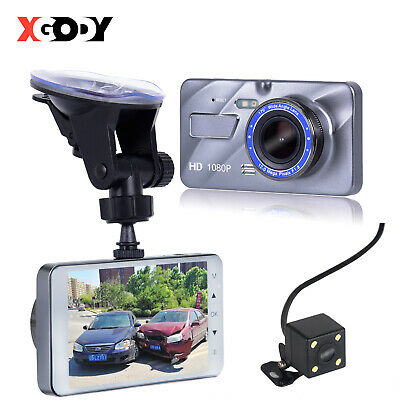 4'' Full HD 1080P Dual Lens Car DVR Camera Vehicle Video Recorder Dash Cam Night