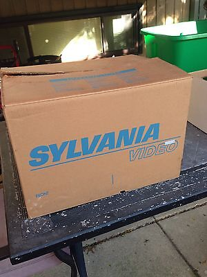 vintage sylvania television In Original Box And Packaging 1985